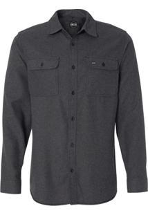 Camisa Blanks Co Flanela 8200 Charcoal Masculina - Masculino