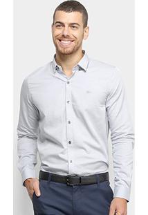 Camisa Lacoste Masculina - Masculino-Cinza Claro