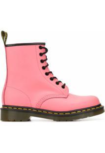 Dr. Martens Ankle Boot 1460 Com Cadarço E Salto 40Mm - Rosa