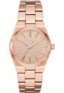 Relógio Michael Kors Channing Feminino - Feminino-Rose Gold