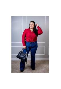 Calça Jeans Feminina Arauto Modelagem Flare