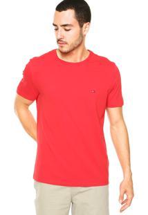 Camiseta Tommy Hilfiger Redonda Vermelha