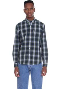 Camisa Levis Classic One Pocket Xadrez Masculina - Masculino-Azul