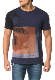 Camiseta Ckj Mc Estampa Coqueiro Manga - G
