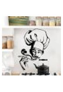 Adesivo De Parede Chefe De Cozinha - Eg 100X75Cm