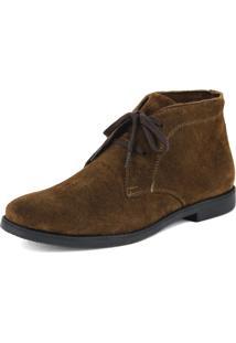Botina Luxury Desert Boots Chelsea Sir.W Com Cadarco Cafe Com Sola Preta Escrete 503