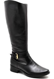 Bota Top Franca Shoes Country Feminino. - Feminino-Preto