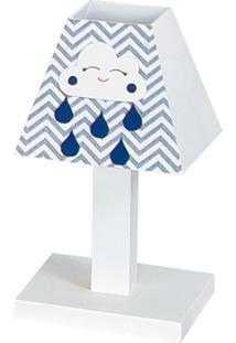 Abajur Dôda Baby Nuvem Azul Marinho Mdf
