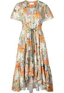 Peter Pilotto Floral Asymmetric Dress - Verde