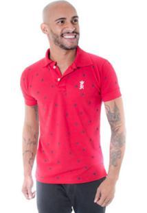 Camisa Polo Joss Caveira Vermelha