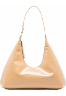 By Far Amber Patent-Leather Shoulder Bag - Neutro