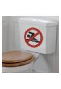 Adesivo De Banheiro Para Vaso Acoplado Proibido Nadar - Tam Único 25X25Cm