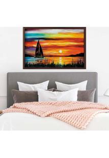 Quadro Love Decor Com Moldura Arancione Madeira Escura Mã©Dio - Multicolorido - Dafiti