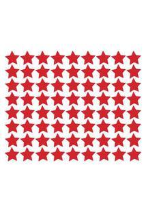 Adesivo De Parede Estrelas Vermelhas 54Un