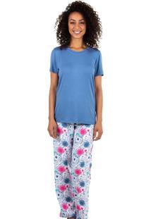Pijama Estampado Homewear Azul - 589.076 Marcyn Lingerie Pijamas Azul - Azul - Feminino - Dafiti
