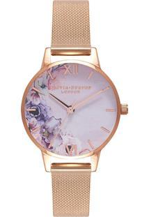 Relógio Olivia Burton Feminino Aço Rosé - Ob16Pp39