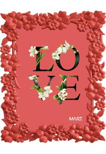 Porta Retrato Mart Love Vermelho 10X15
