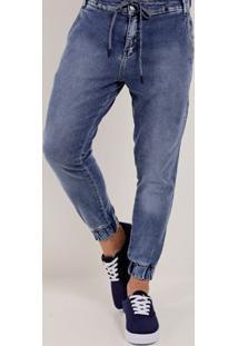 Calça Jeans Jogger Masculina Bivik Azul