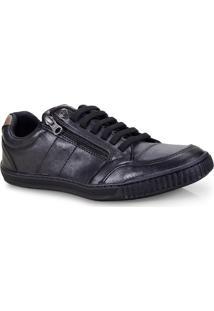 Sapatenis Masc Ped Shoes 14010-A Kit C/Relogio Preto