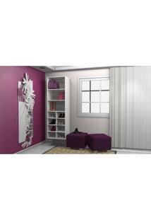 Closet Com Prateleiras E Nichos Kt608 Branco - Getama Móveis
