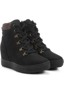 Tênis Dakota Sneakers Cano Médio Feminino - Feminino-Preto