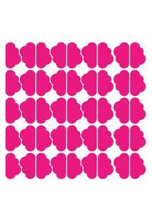 Adesivo De Parede Nuvens Rosa Pink 45Un