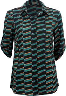 Camisa Intens Manga 3/4 Jersey Verde