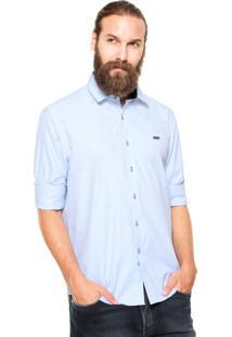 Camisa Mr Kitsch Botões Azul