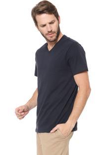 Camiseta Reserva Gola V Azul-Marinho