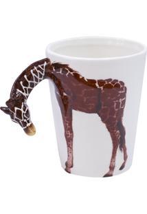 Caneca Minas De Presentes Alça Girafa Branco