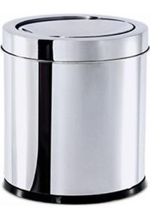 Lixeira Inox Tampa Basculante 5,4L 18,5X20Cm Brinox
