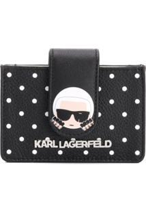 Karl Lagerfeld Carteira Com Estampa De Poás - Preto