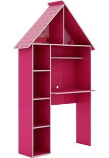 Escrivaninha Infantil Casinha Rosa