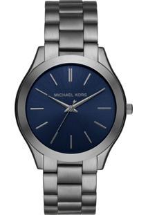 Relógio Michael Kors Mk8584/1Kn Cinza/Azul-Marinho