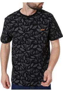 Camiseta Manga Curta Masculina Vels Preto