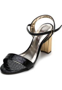 Sandália Amber Croco Vermelha