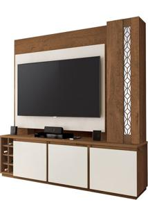 "Estante Home Para Tvs Até 55"" Capri Off White / Naturale"