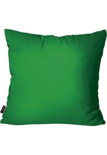 Capa De Almofada Pump Up Decorativa Avulsa Verde 45X45Cm