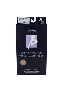 Meia Calça Materna Sigvaris Select Comfort Premium 20-30 Mmhg Ponteira Aberta P (Tamanho Pequeno) Curto (P1), Cor Bege