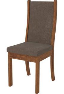 Cadeira Malta 2 Peças - Rústico Terrara Com Pena Marrom
