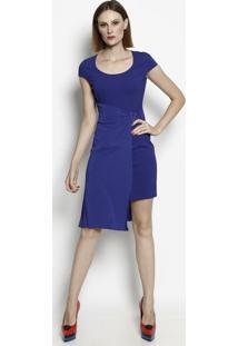256b3f714b Vestido Azul Ziper feminino