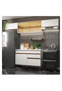 Cozinha Compacta Madesa Reims 260003 Com Armário E Balcão Branco Cor:Branco