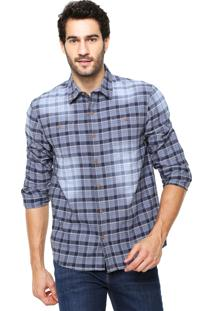 Camisa Hering Slim Xadrez Azul