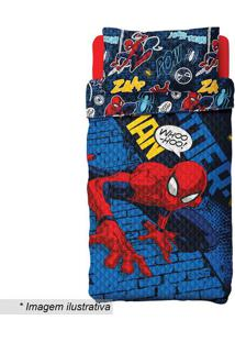 Conjunto De Colcha Dupla Face Spider Manâ® Solteiro- Azullepper