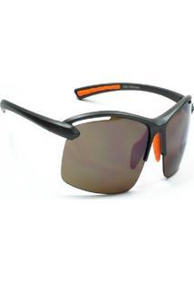 Óculos De Sol Jf Sun Itrio-Chumbo Fosco-Marrom