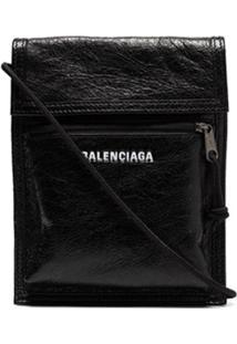 Balenciaga Messenger Bag Explorer Arena De Couro - Preto