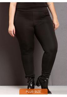 Calça Skinny Blackout Plus Size Preto