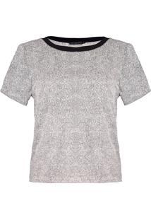 T-Shirt Karamello Mini Poá Off Com Preto