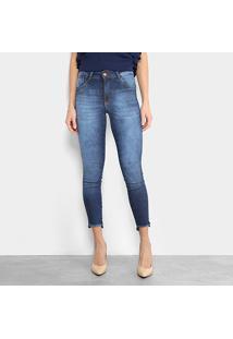 a2913a9d3 ... Calça Jeans Cigarrete Biotipo Estonada Barra Desfiada Cintura Média  Feminina - Feminino