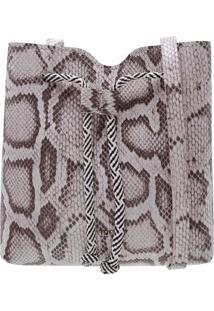 Bucket Geométrica Snake Cinza | Anacapri